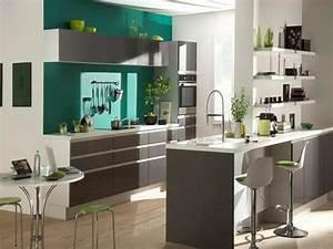 idee peinture cuisine galerie avec cuisine couleur de With idee deco cuisine avec cuisine gris et vert