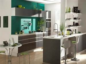 idee peinture cuisine galerie avec cuisine couleur de With idee couleur mur cuisine
