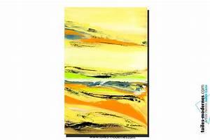 Tableau campagne vert jaune orange format vertical art for Couleur peinture moderne pour salon 18 tableau campagne vert jaune orange format vertical art