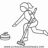 Curling sketch template