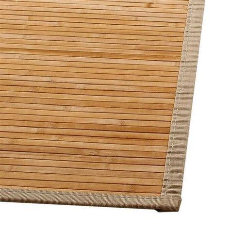 tapis lattes  cm bambou naturel tapis eminza