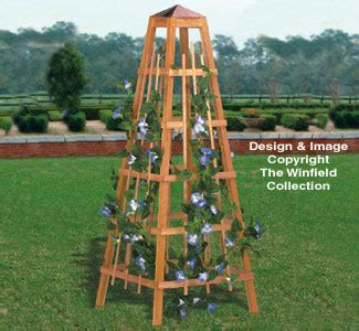 planter woodworking plans garden obelisk woodworking plan