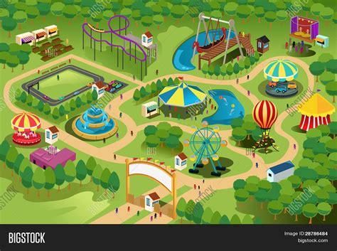 large lazy 游乐园地图 库存矢量图和库存照片 bigstock