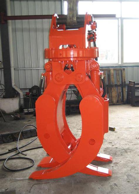 degree excavator rotating grapple hydraulic rock grab  excavators doosan dx