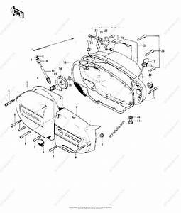 Kawasaki Motorcycle 1973 Oem Parts Diagram For Engine Covers   U0026 39 73 F11 F11