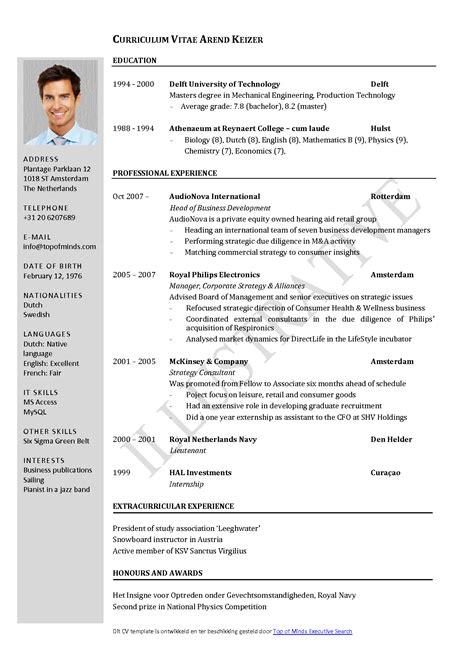 curriculum vitae template word  cv template