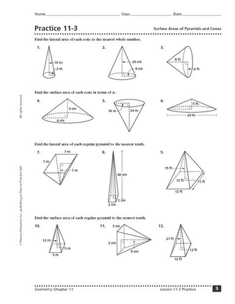 surface area pyramid worksheet www imgkid the