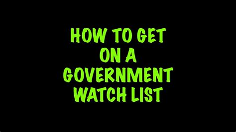 how to get on a government list