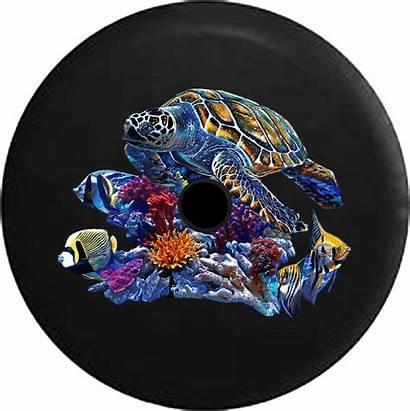 Jeep Turtle Tire Spare Jl Fish Sea
