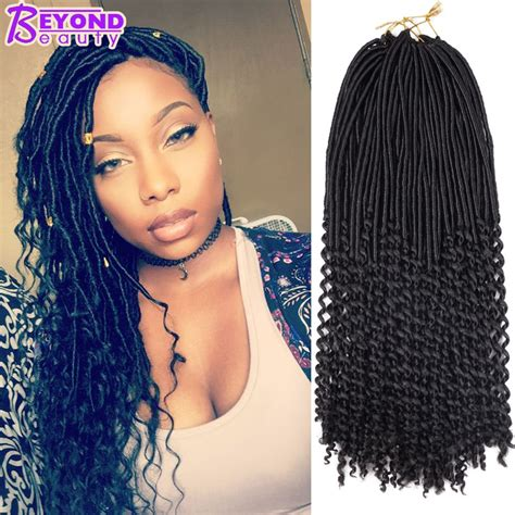 Crochet Goddess Locs Ombre Curly Crochet Braids Faux Locs Hair Braid Freetress Havana Mambo Faux ...
