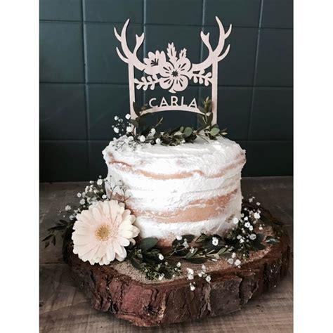 cake topper bois de cerf boheme figurine pour gateau