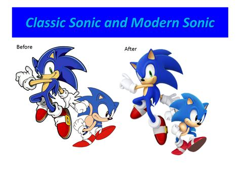classic and modern sonic the hedgehog by 9029561 on deviantart
