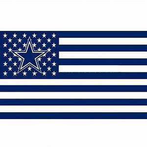 Hicollie 1Pc Dallas Cowboys USA flag with star and stripe