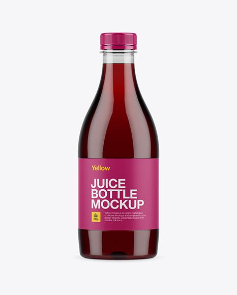 Download this bottle mockup design for juices designs presentation. Plastic Milk Bottle Mockup - Clear PET Cherry Juice Bottle ...