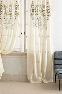 Sequined Embroidered Ivory Curtain