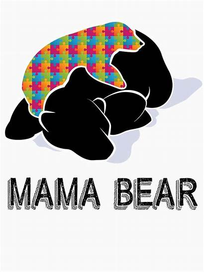 Clipart Autism Mom Mama Bear Awareness Awesome