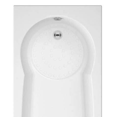 taranto textured base keyhole shower bath
