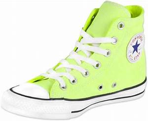 Converse All Star Hi shoes neon yellow