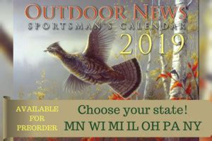 outdoor news calendars feature top flight artwork information