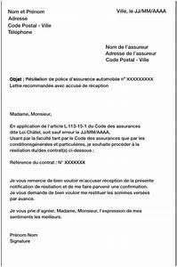 Resiliation Assurance Voiture : lettre pour resilier contrat assurance auto exemple lettre fin de contrat jaoloron ~ Gottalentnigeria.com Avis de Voitures