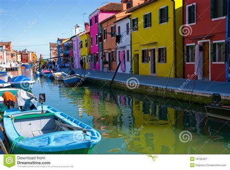 Boat Dealers Near Venice by Venice Burano Island Canal Stock Image Cartoondealer