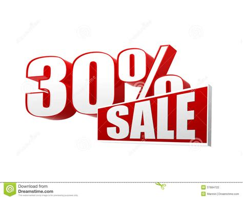 Sale Images 30 Percentages Sale In 3d Letters And Block Stock