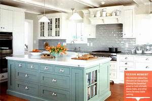 Colored kitchen cabinets for Colored kitchen cabinets