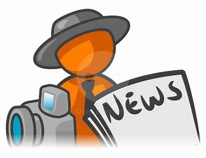 Journalist Clipart Reporter Jurnalistik Noticias Wartawan Reporting
