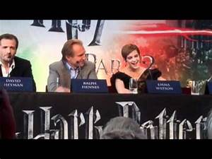 Ralph Fiennes was hysterical at the Harry Potter Press ...