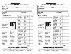 youth sports photography order form 12 team order form With youth sports photography templates