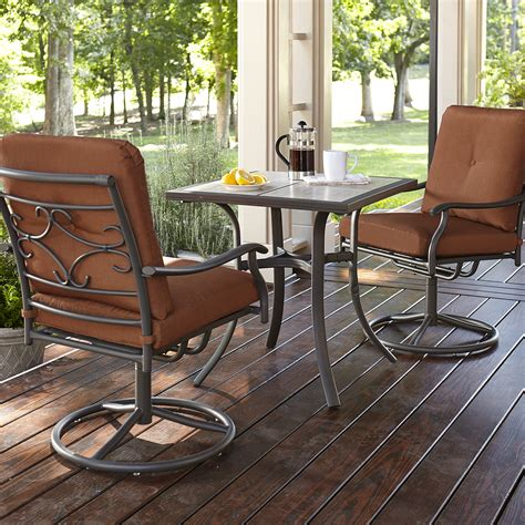 smith clermont 3 bistro set rust limited