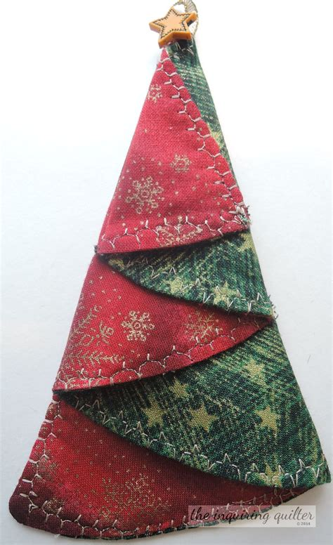 christmas tree napkins fold pattern day seven folded fabric christmas tree ornament the 7263