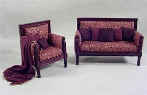 Red and Gold Bamboo Living Room Furniture