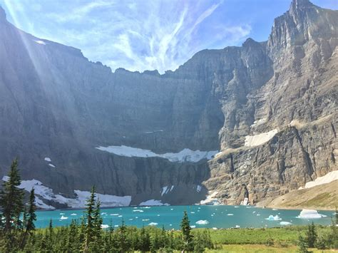 Iceberg Lake Glacier National Park Montana Oc