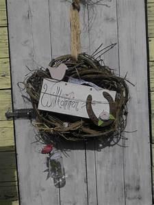 Land Haus Shop : handgefertigter t rkranz hufeisen shabby landhaus rosa vogel blume sommer haust re dekoration ~ Buech-reservation.com Haus und Dekorationen