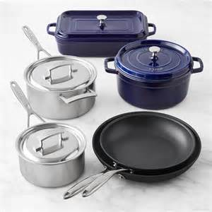 cookware european materials mixed piece sonoma sets williams dp pans pots