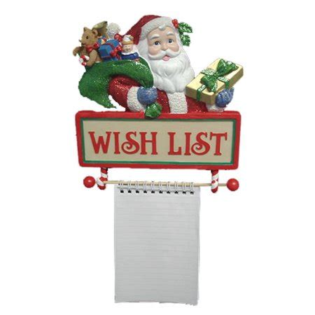 santas  list notepad wall christmas decoration
