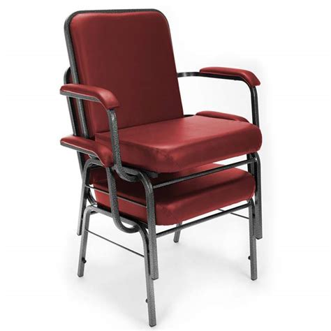 ofm anti microbial vinyl big and stacking arm chair