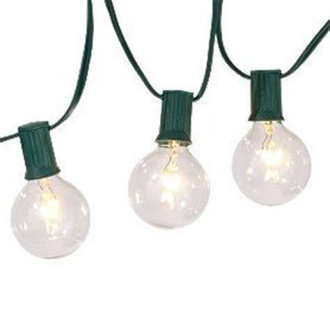 clear globe string lights set 15 g50 base