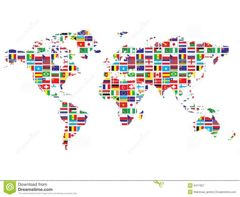 world map  flags royalty  stock photography