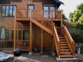 Outdoor Wood Deck Stair Ideas