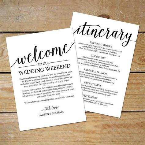 rustic wedding itinerary template printable wedding