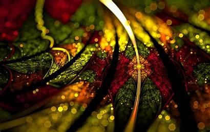 Colorful Fractal Glare Digital 4k Ultra Abstraction