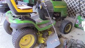 John Deere X320 Deck Belt Routing