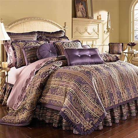 j queen palazzo purple california king comforter set
