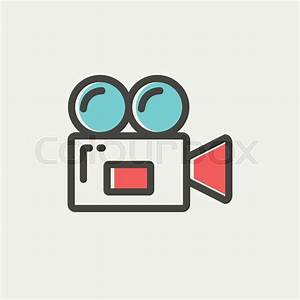 Video camera icon thin line for web and mobile, modern ...
