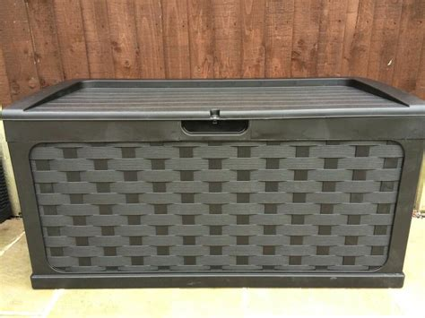 starplast waterproof garden storage box bench rattan