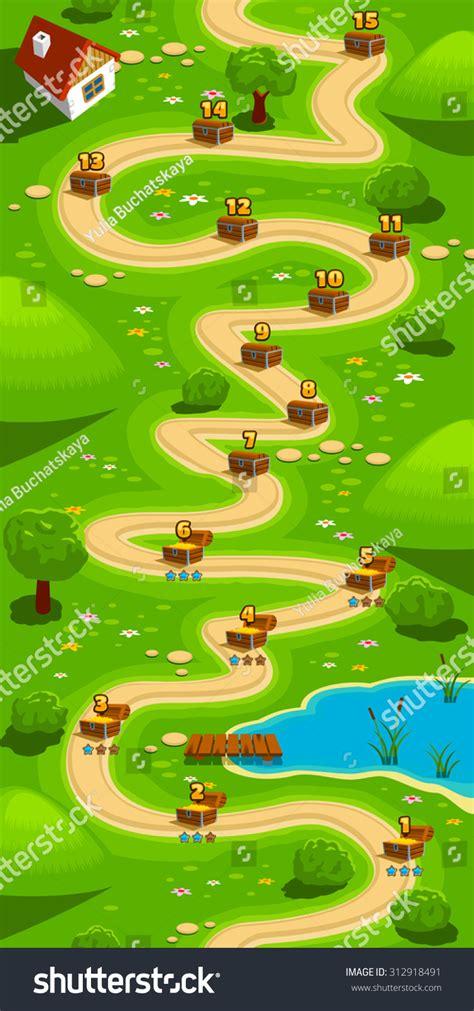 Game Background Vertical Tileable Wallpaper Level Stock