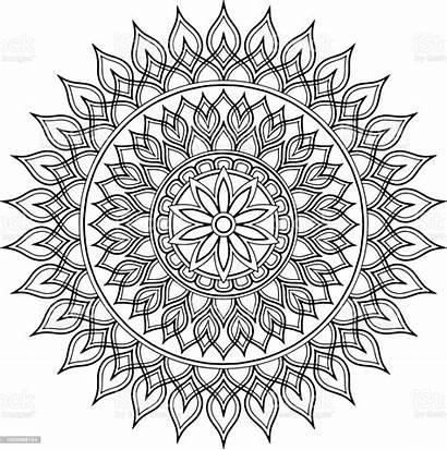 Mandala Coloring Ausmalen Zum Abstract Om Mandalas