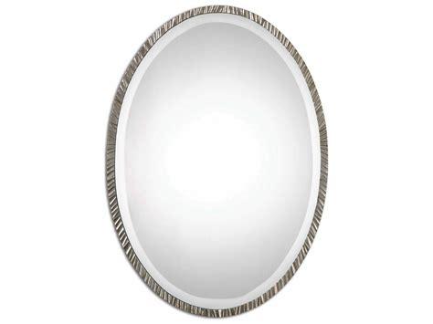 Uttermost Annadel 20 X 28 Oval Gray Wall Mirror